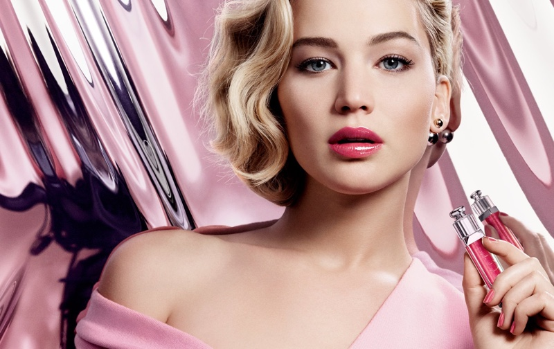 #ShineDontBeShy Jennifer Lawrence Stars in Dior Addict Ultra-Gloss Ads