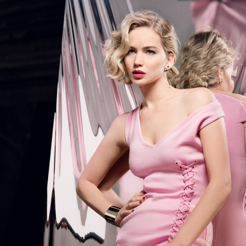 Jennifer Lawrence poses in pink dress for new Dior Addict lip gloss campaign