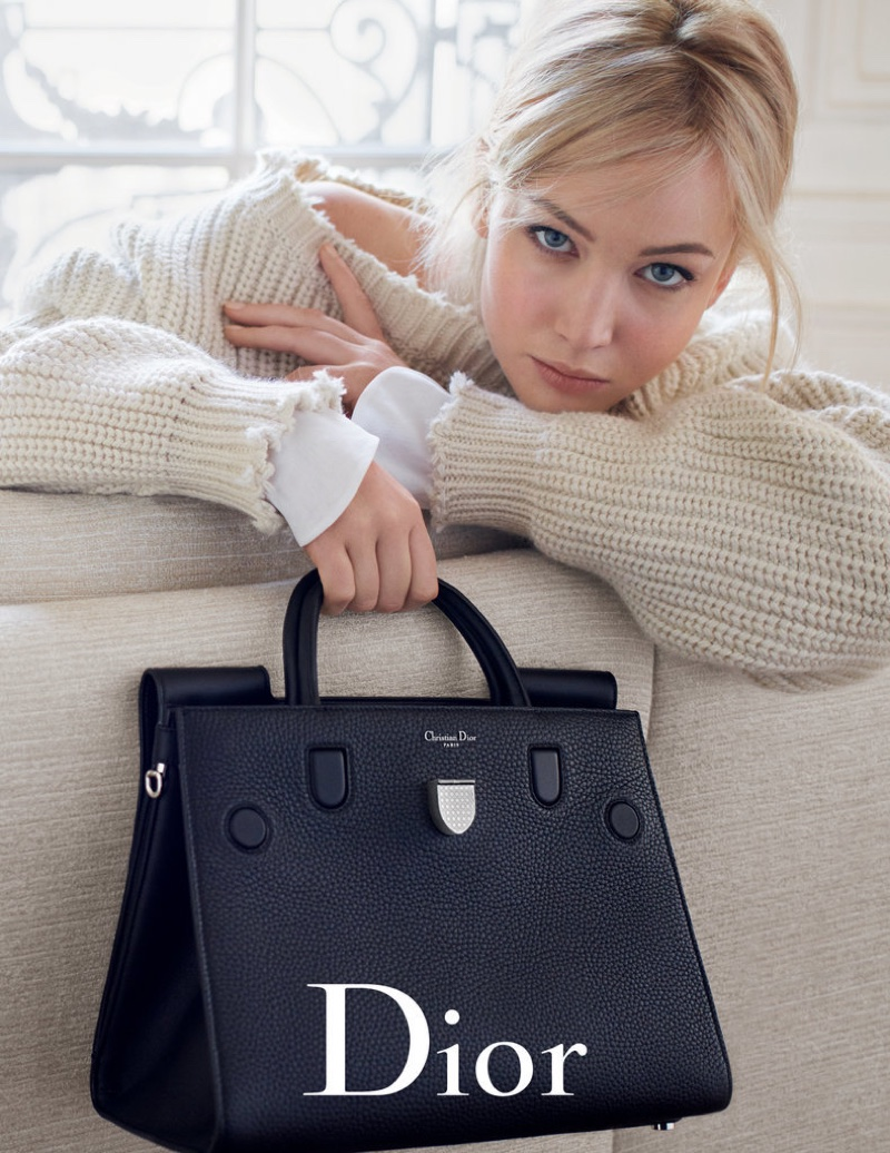 Jennifer Lawrence Looks Super Relaxed in Dior's Spring Handbag Ads