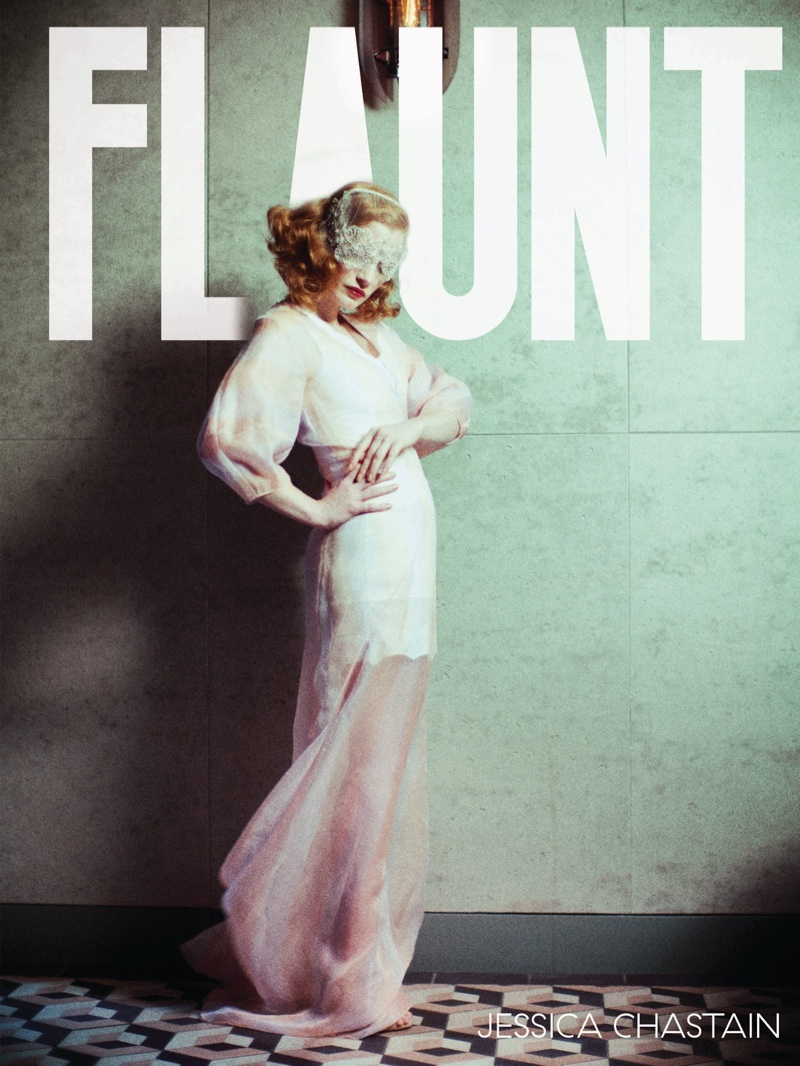 Jessica Chastain on Flaunt Magazine Cover