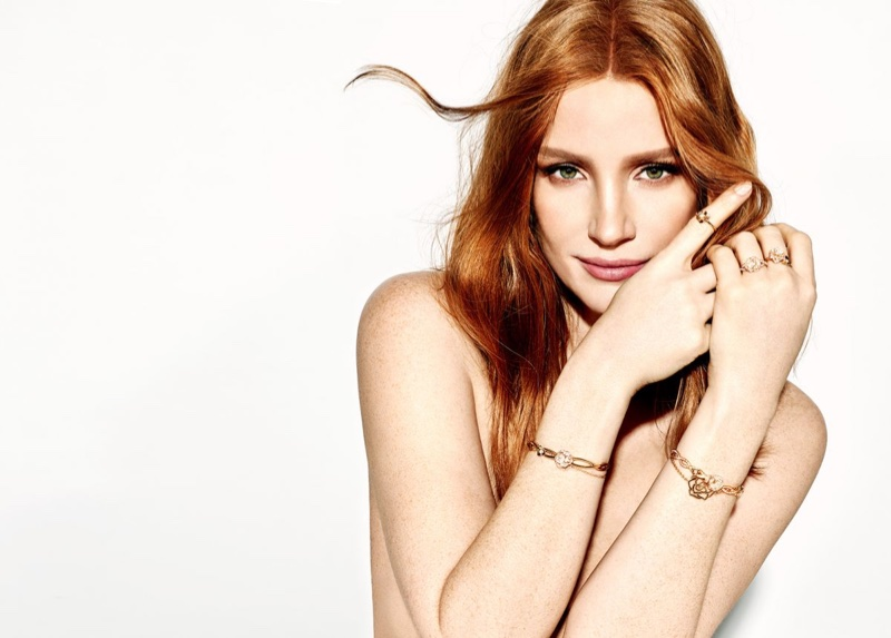 Actress Jessica Chastain models Piaget jewelry