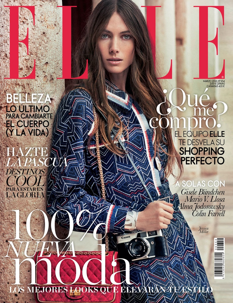 Jessica Miller on ELLE Spain March 2016 Cover