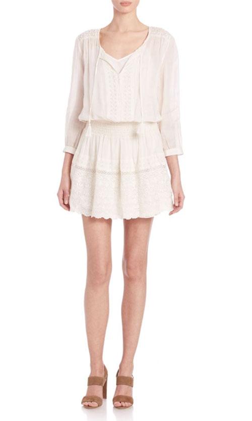 Joie Laton Cotton Eyelet Dress