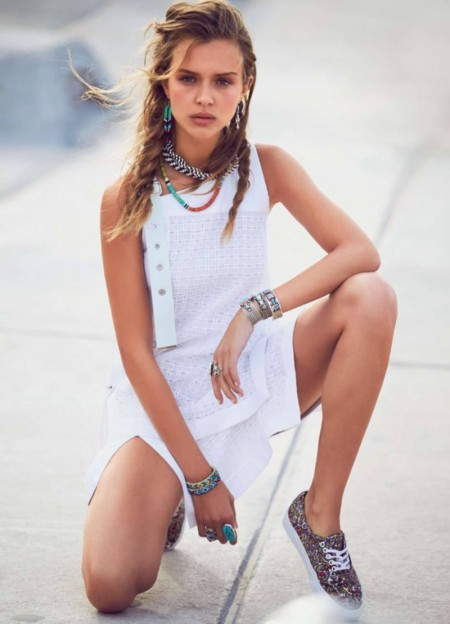 Josephine Skriver Goes Beach Casual for ELLE France Spread