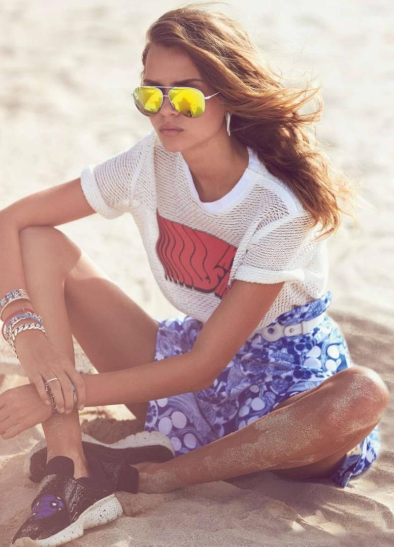 Josephine Skriver Goes Beach Casual for ELLE France Spread