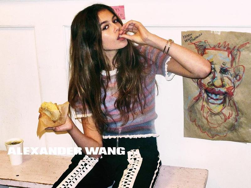 Kaia Gerber stars in Alexander Wang's spring-summer 2016 campaign