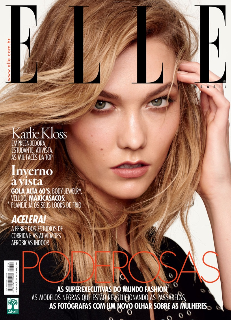 Karlie Kloss on ELLE Brazil March 2016 Cover