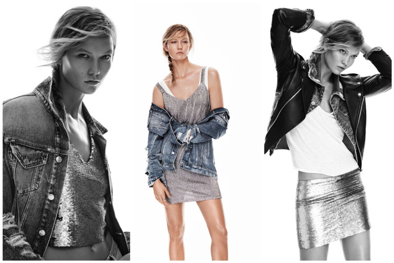 Karlie Kloss Channels 90's Grunge for Mango
