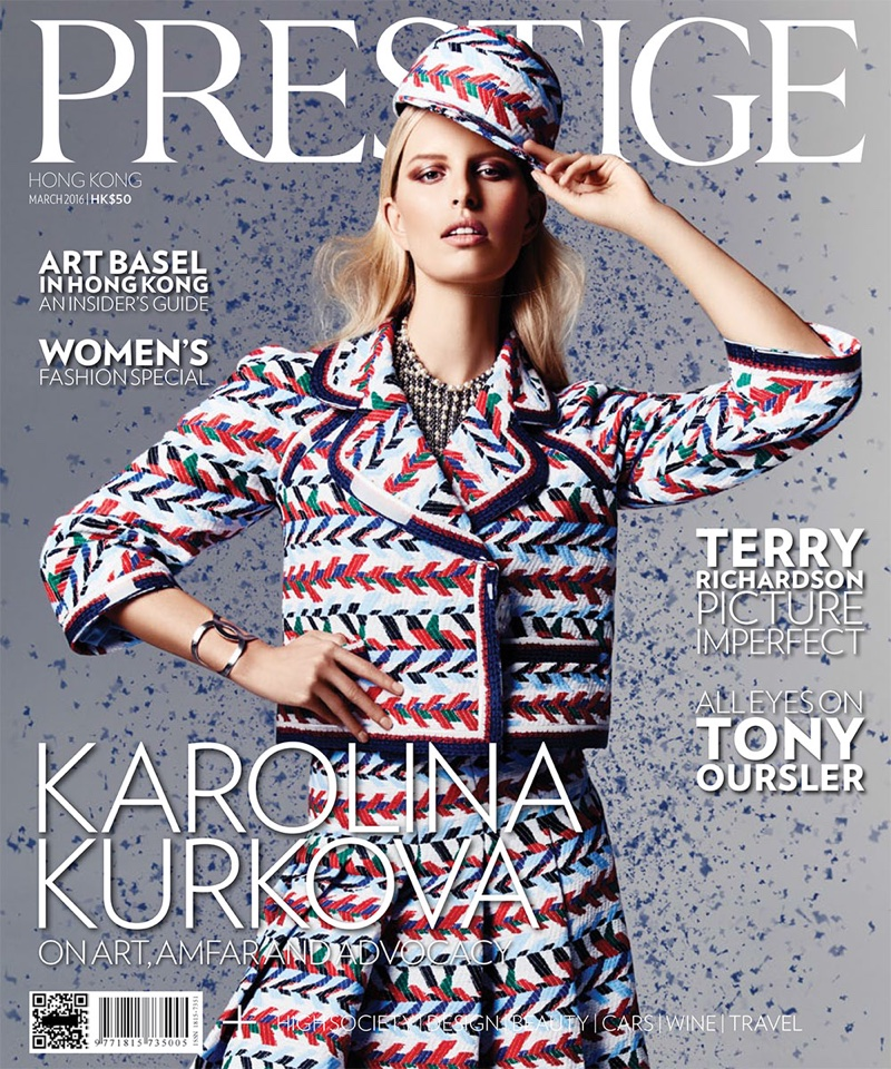 Karolina Kurkova Takes On Bold Prints for Prestige Magazine