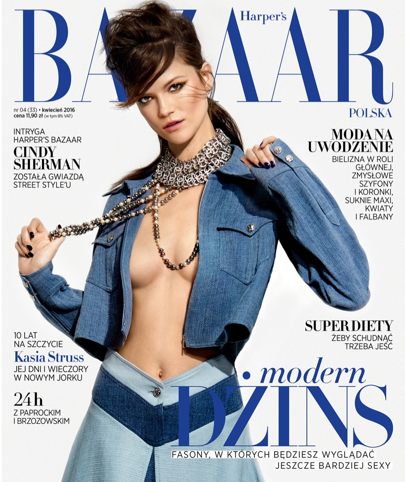 Kasia Struss Models Spring Looks for BAZAAR Poland by Kevin Sinclair