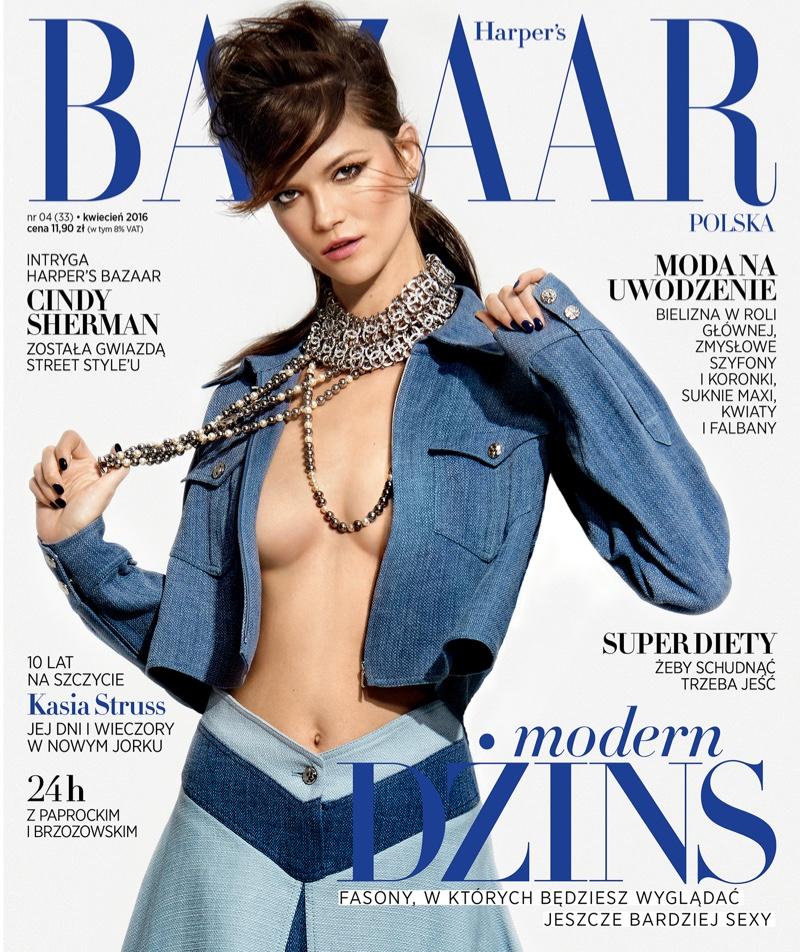 Kasia Struss on Harper's Bazaar Poland April 2016 Cover