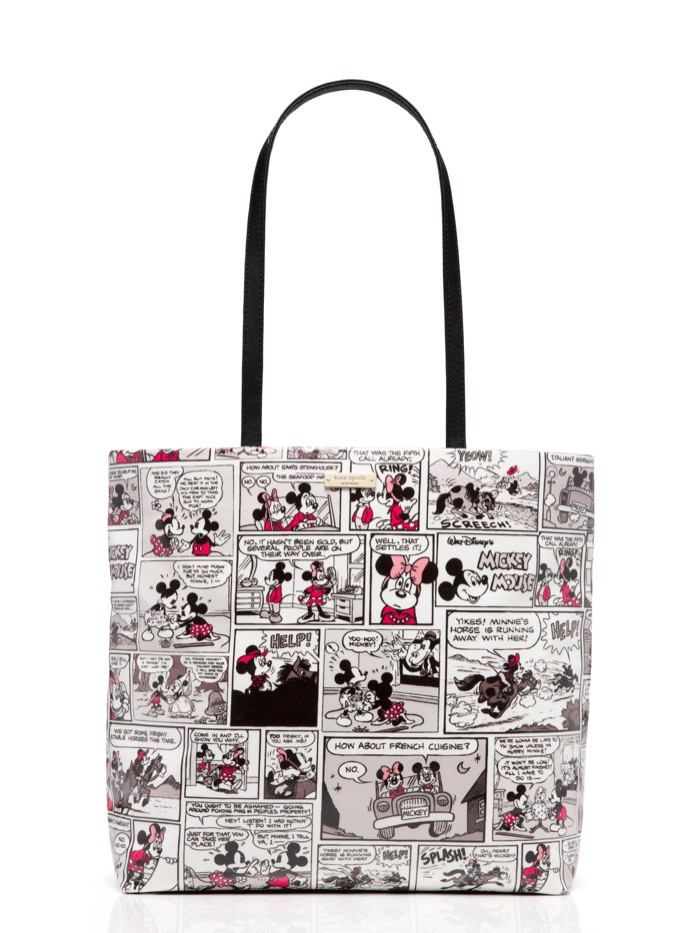 Kate Spade x Minnie Mouse Tote with Comic Strip