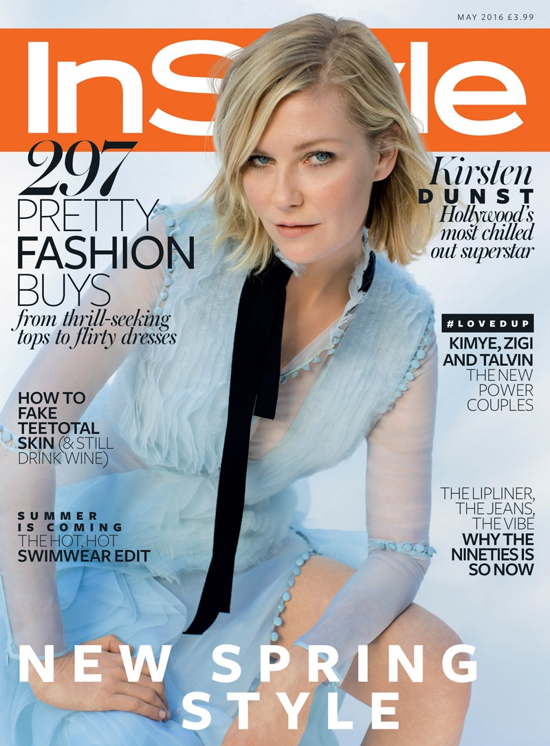 Kirsten Dunst on InStyle UK May 2016 Cover