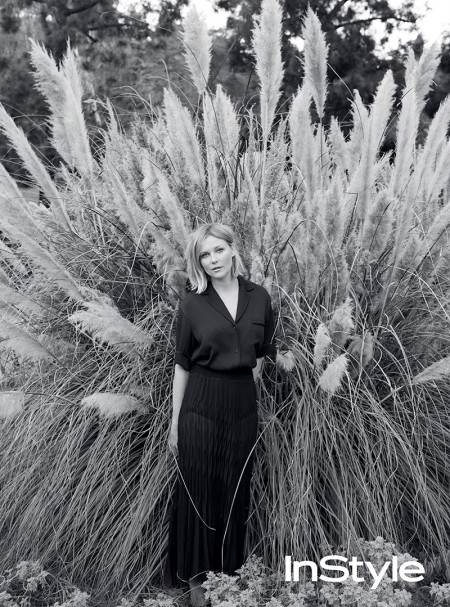 Kirsten Dunst Poses in Chill Spring Looks for InStyle UK