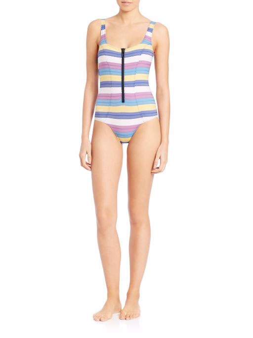 Lisa Marie Fernandez Striped One-Piece Swimsuit