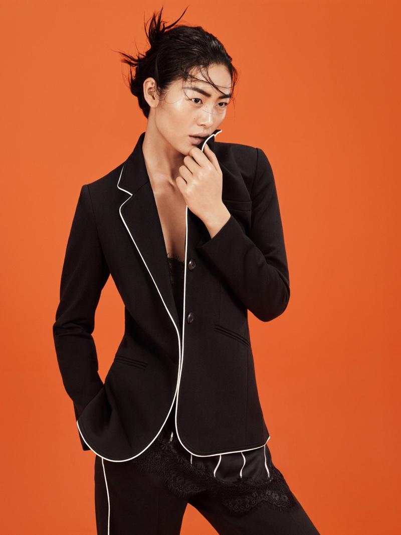 Liu Wen Models 90s Minimalism for Mango's March Campaign