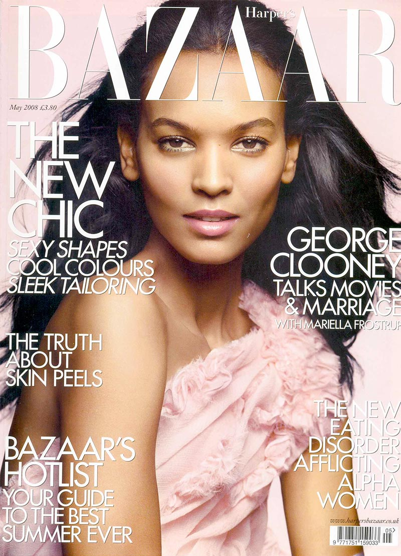 Liya Kebede stars on Harper's Bazaar May 2008 cover