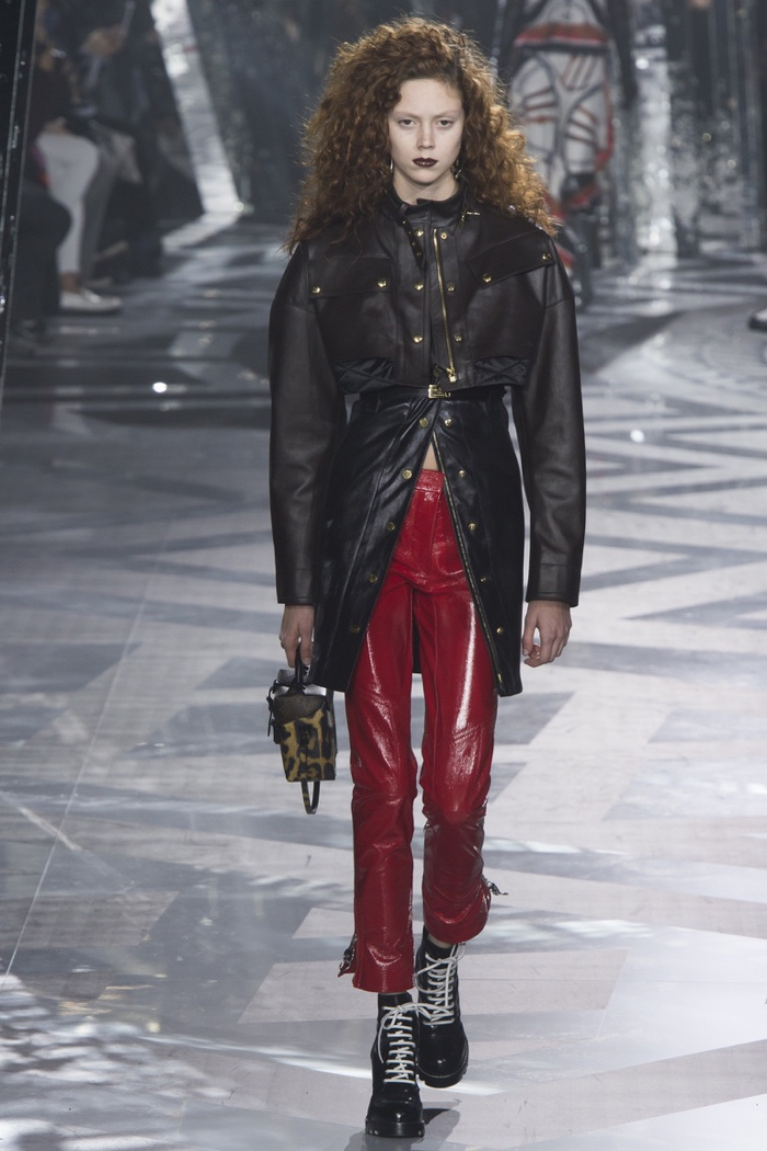 Louis Vuitton features leather jacket for fall-winter 2016 runway show