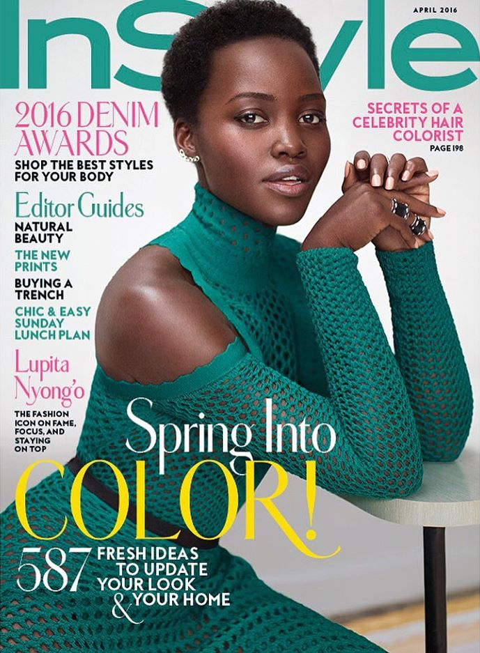 Lupita Nyong'o on InStyle Magazine April 2016 Cover