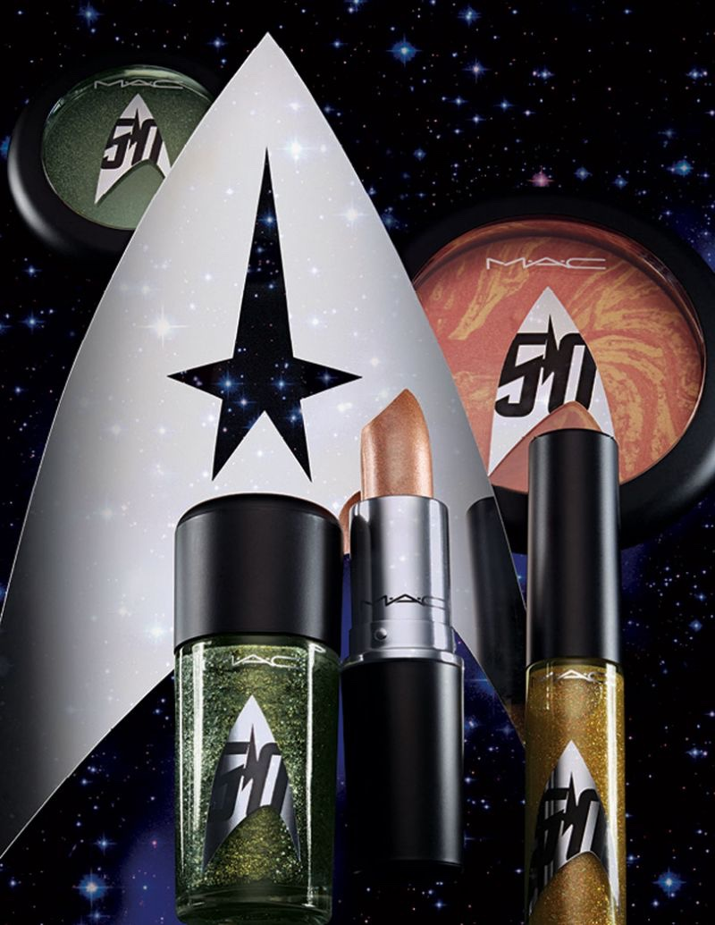 A preview of products offered from the MAC Cosmetics x Star Trek makeup line
