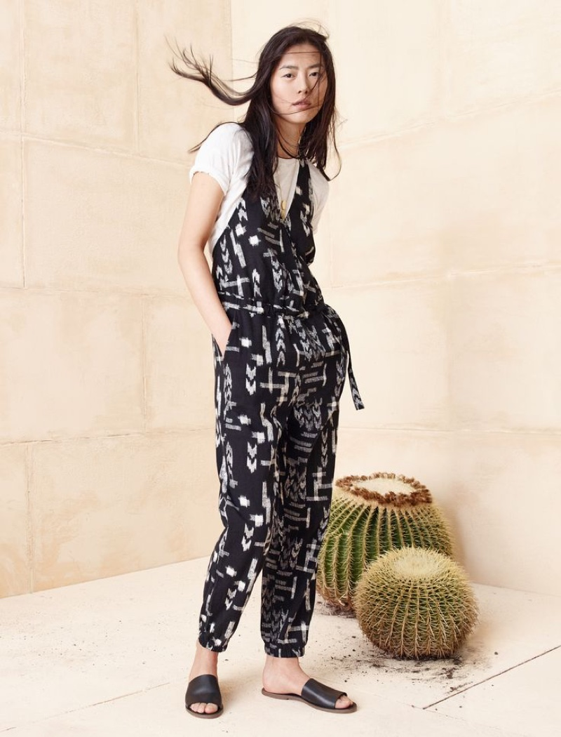 Madewell Maderas Jumpsuit, The Whisper Cotton Tee and Boardwalk Sandal