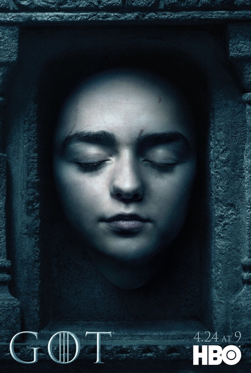 Maisie Williams on Game of Thrones Season 6 character poster
