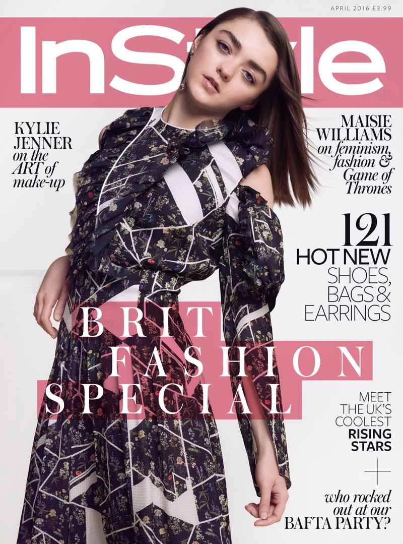 Maisie Williams on InStyle UK April 2016 Cover