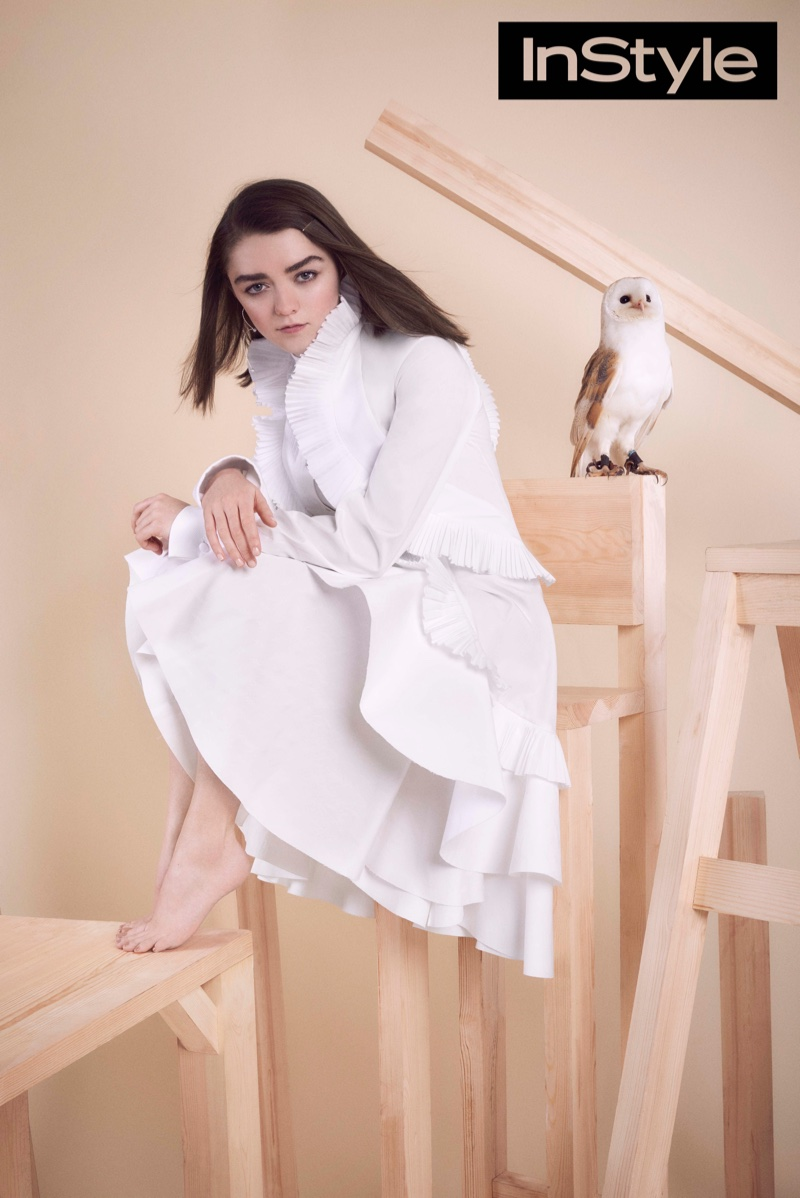 Maisie Williams opens up to the magazine about her boyfriend who is not in show business