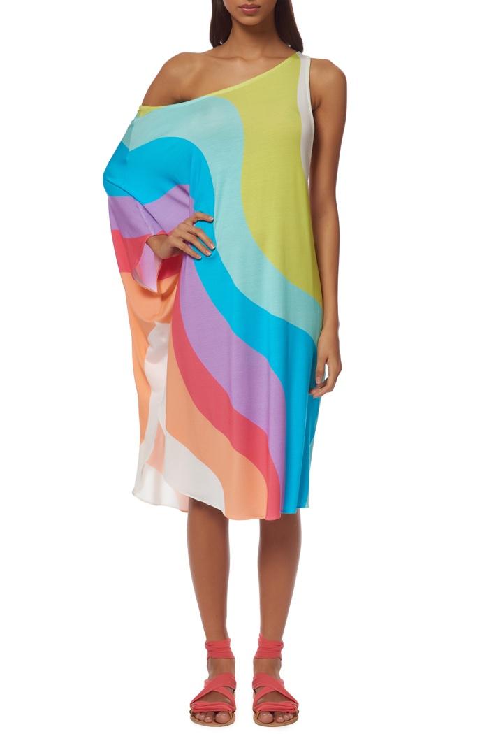 Mara Hoffman One Shoulder Draped Dress