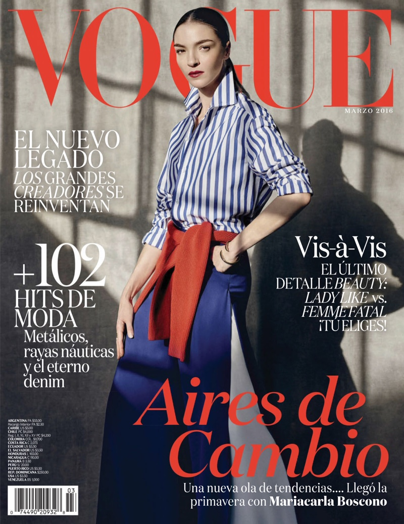 Mariacarla Boscono is an Elegant Vision in Vogue Mexico