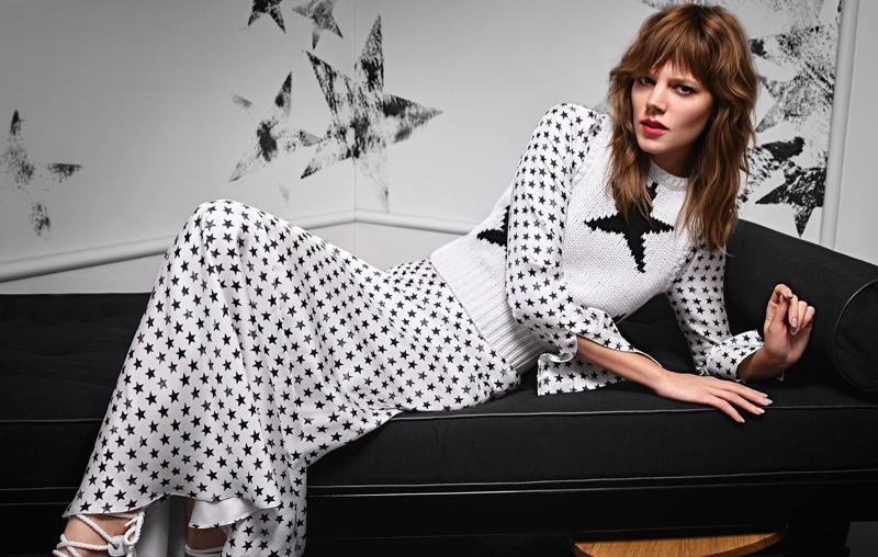 Freha Beha Erichsen Channels 70`s Style For Max Mara Ads