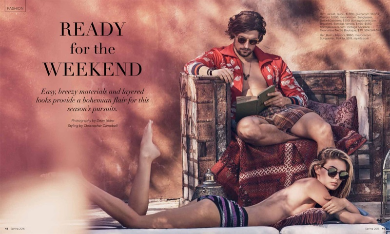 Megan Williams and Wouter Peelen star in Luxury Magazine