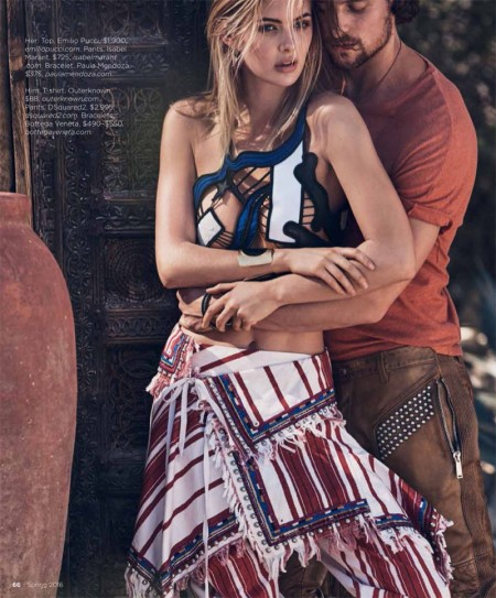 Megan Williams is 'Ready for the Weekend' in Luxury Magazine