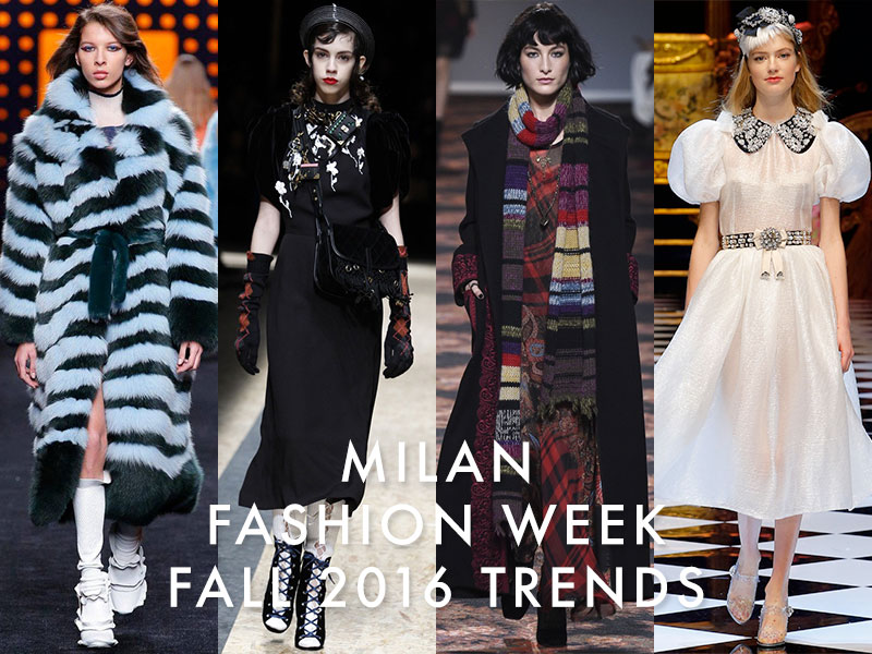 The 4 Major Trends From Milan Fashion Week Fall / Winter 2016