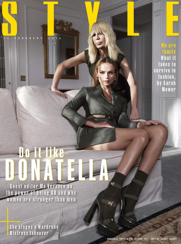 Natasha Poly Gets Wild In Versace For Sunday Times Style
