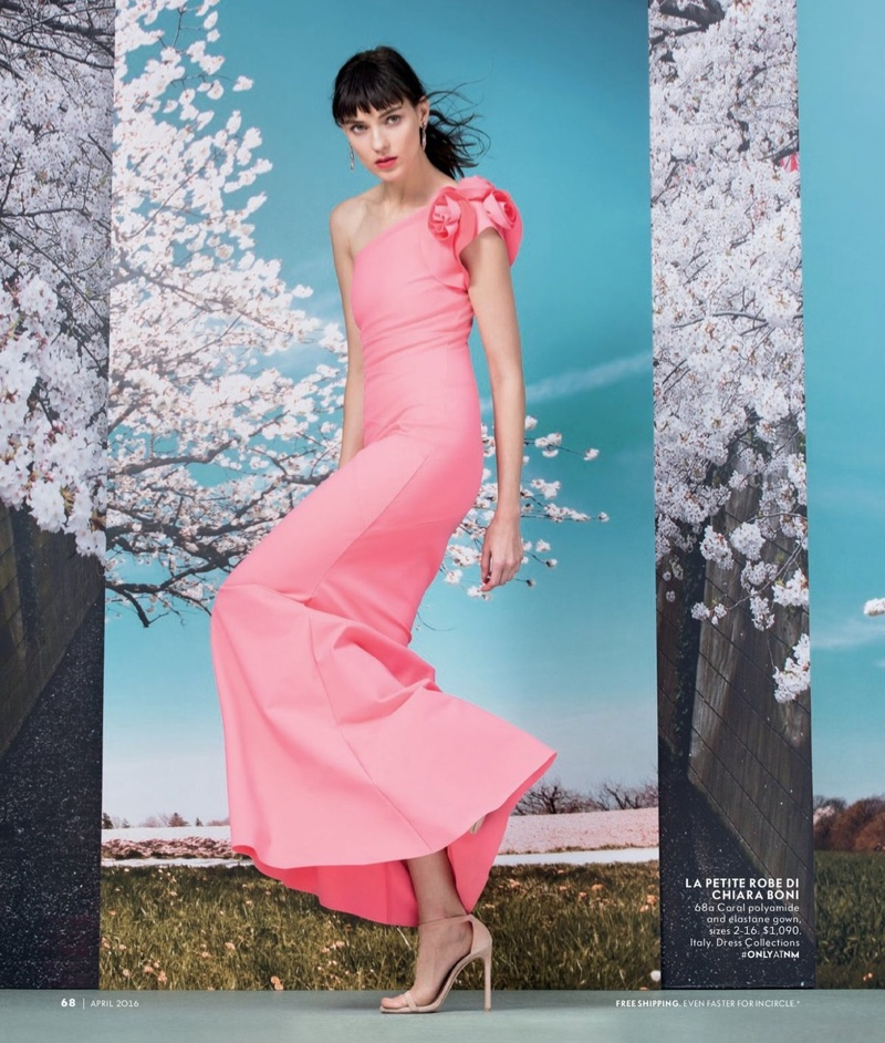 Kati looks pretty in pink wearing a La Petite Robe di Chiara Boni gown