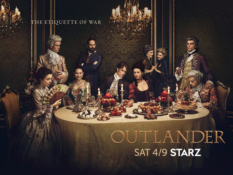 Outlander season 2 cast on promotional artwork poster. Photo: Starz