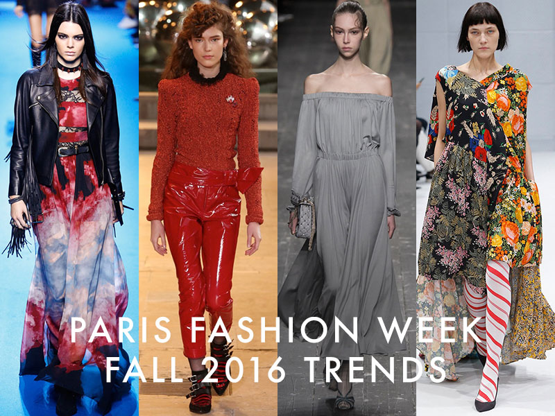 The Most Inspiring Trends from Paris Fashion Week Fall 2016