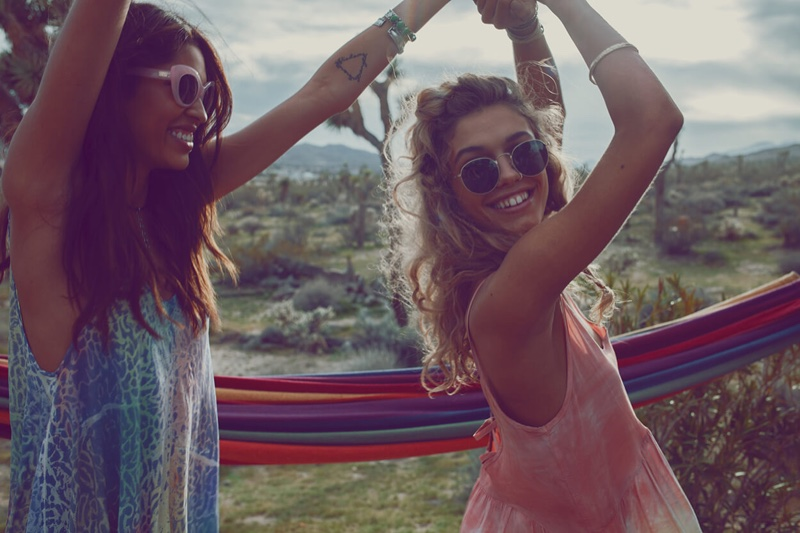 Juliana Herz and Yvonne Logan star in Planet Blue's 2016 Festival lookbook