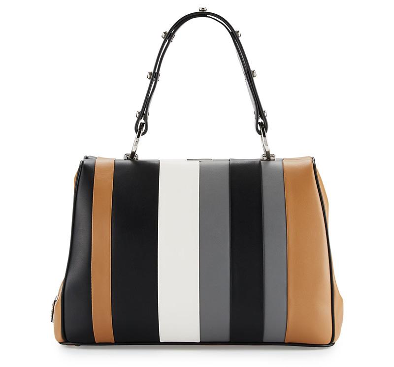2b6dd6586db2 ... free shipping 2016 prada double bag burgundyprada bags outlet prada  baiadera striped leather satchel bag 84eba