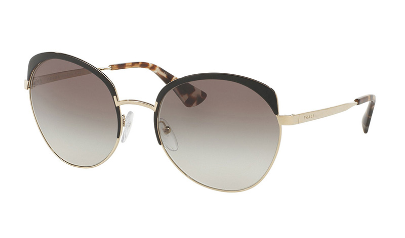 Prada Gradient Capped Butterfly Sunglasses