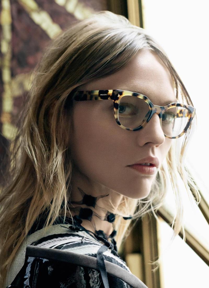 Sasha Pivovarova stars in Prada s spring 2016 eyewear campaign a3c1499c03b1