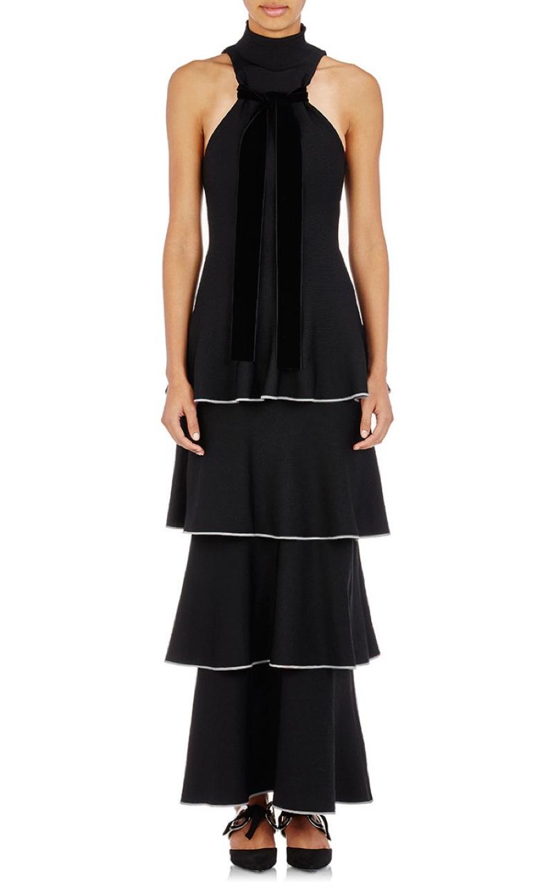 Proenza Schouler Tiered Knit Sleeveless Dress