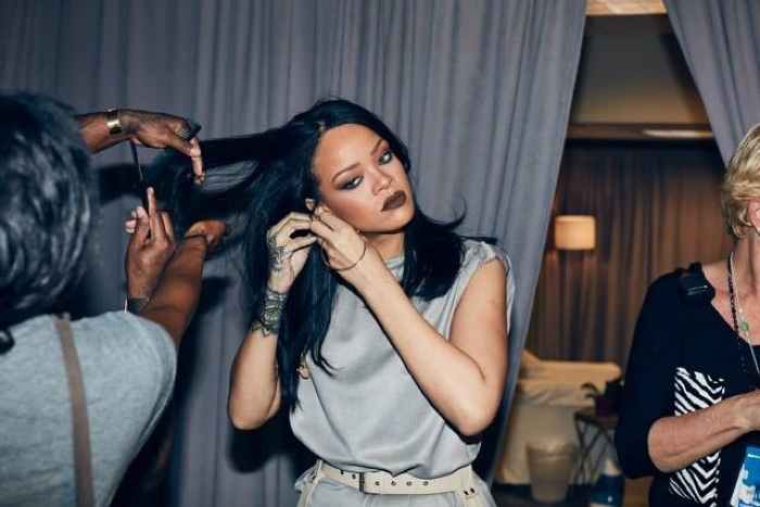 Rihanna prepares to hit the stage on her Anti world tour. Photo: Dennis Leupold