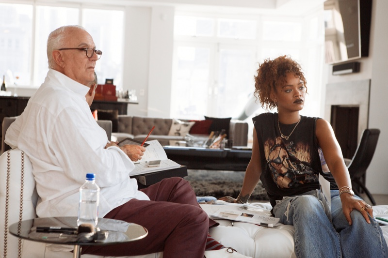 Rihanna and Manolo Blahnik. Photo: Dennis Leupold