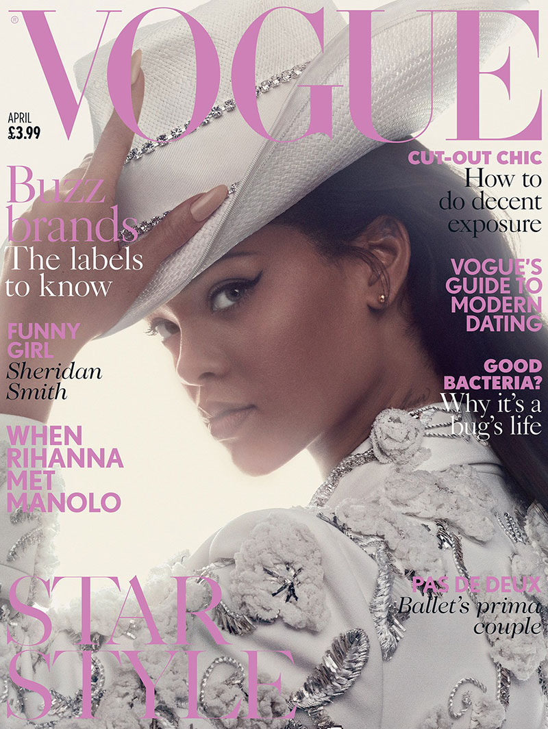Rihanna on Vogue UK April 2016 Cover