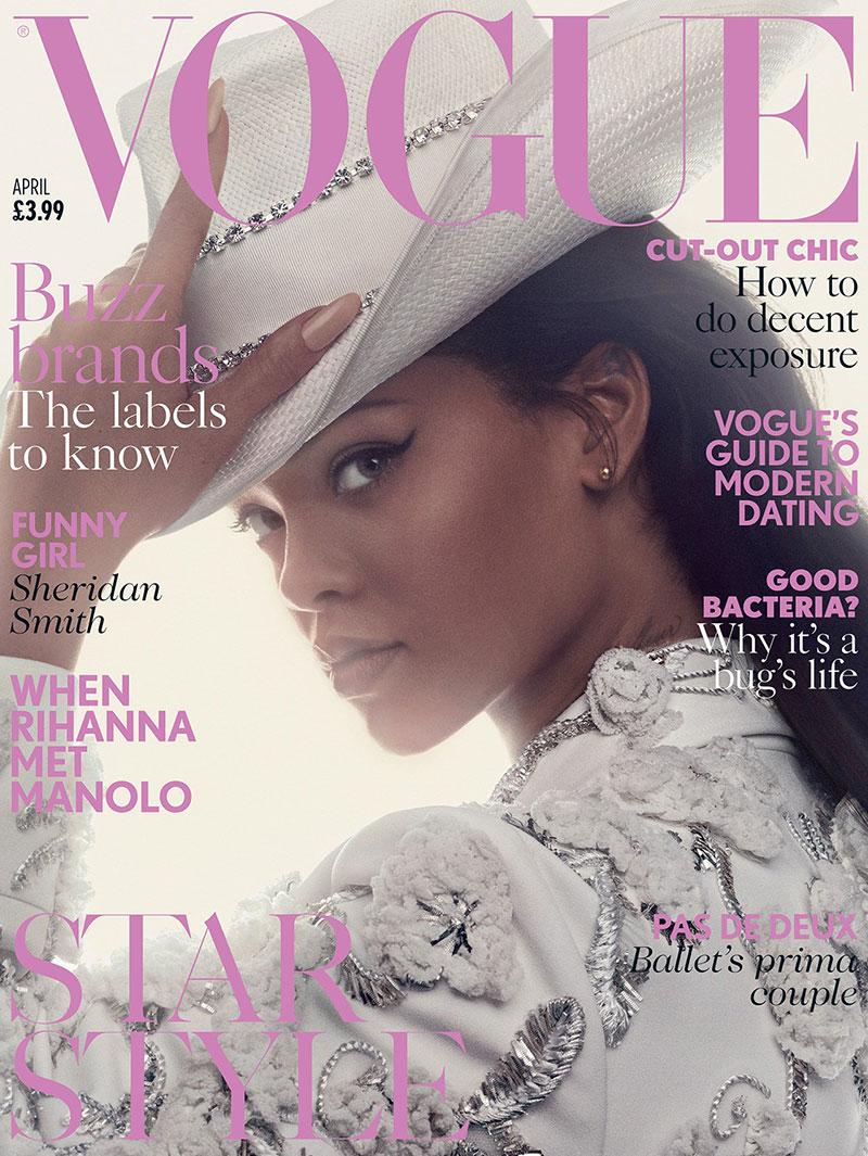 Rihanna Manolo Blahnik Shoes, Vogue UK 2016 Cover