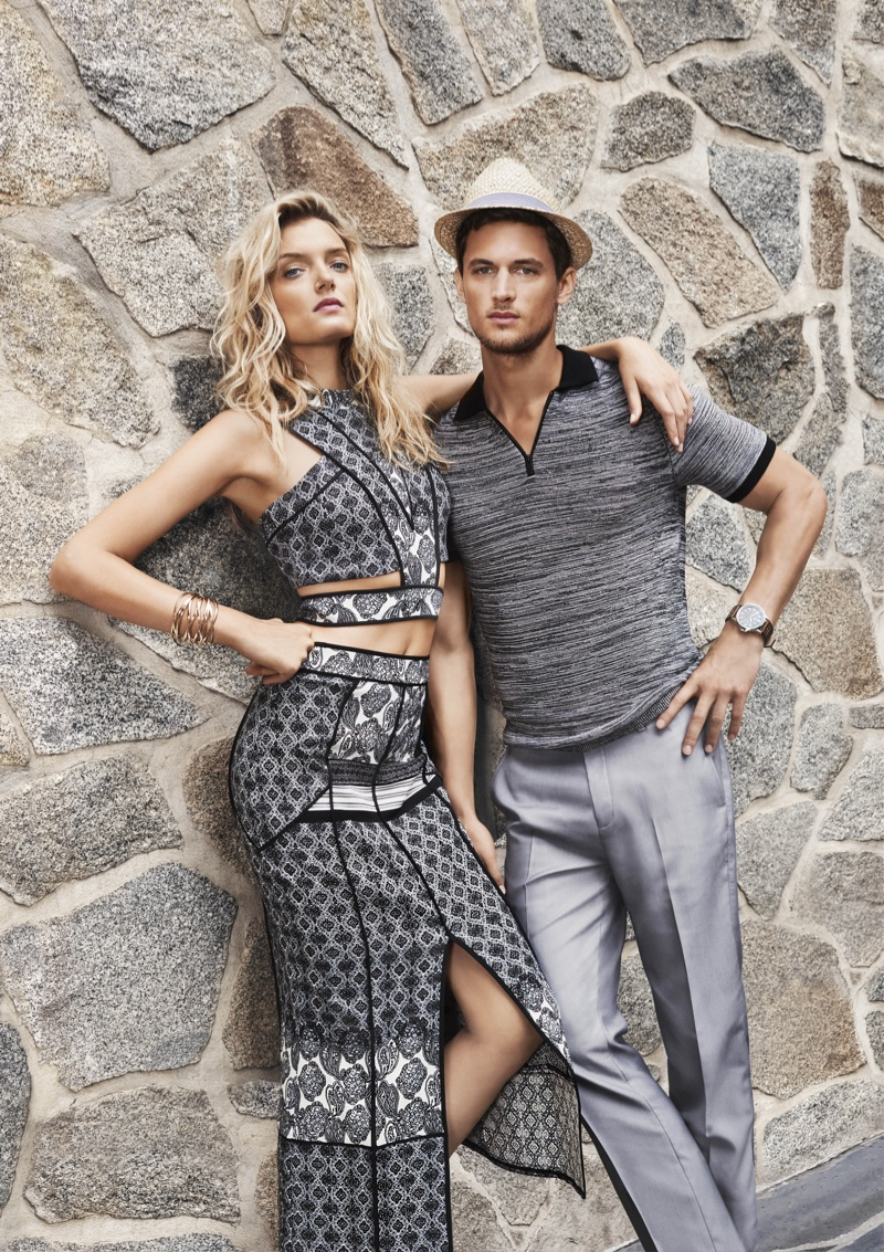 Lily Donaldson and Garrett Neff star in River Island's spring-summer 2016 campaign