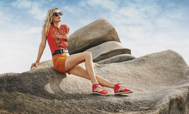 Lily Donaldson soaks up the sun in River Island's spring 2016 advertising campaign
