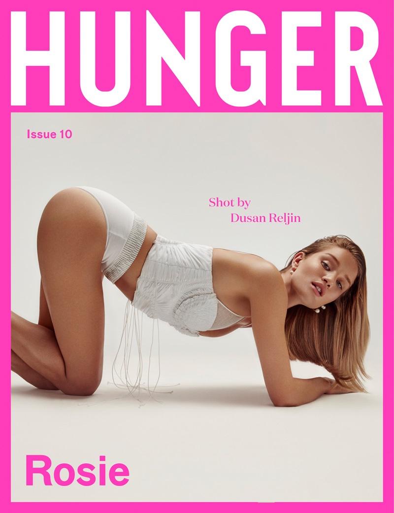 Rosie Huntington-Whiteley on Hunger Magazine #10 Cover
